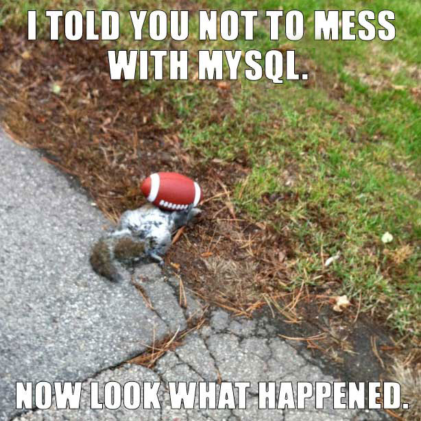 don't mess with mysql